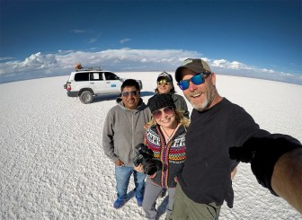 Cheese! With out driver Daniel and our guide Ezekiel.