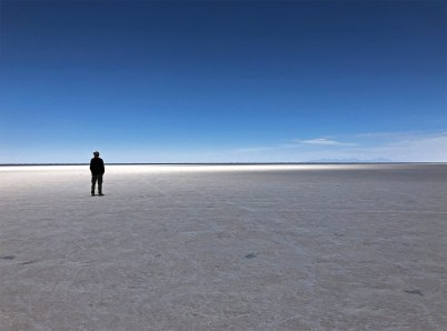 ....and the light begins to dance across the salar...