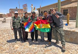 Making new friends in the town of Colchani, on the edge of the Salar. :) :) :)