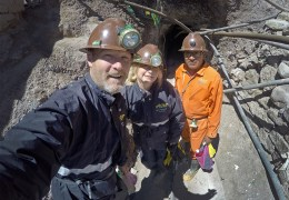 Yes! The mines on Cerro Rico are considered among the most dangerous in the world. But believe it or not, they actually let tourists go in there as the miners are working. Craziness! Here we're about to go inside the mountain with our guide Marco. And we're pretty freaking nervous to be honest.