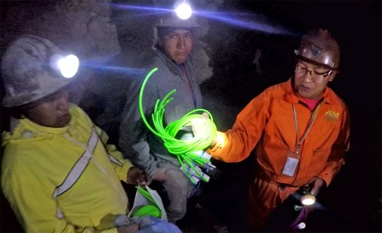 Got into the mine and ran into these miners, who showed us the fuses, caps and TWO HUNDRED sticks of dynamite they were taking into the mine to use. Wild!