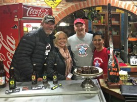 A couple of our favorite people in the world! Chris and Sussy run a little joint called Minuteman Pizza in Uyuni. We first met them when we came through here eleven years ago and it was so awesome to see them again! And yes - this is hands down our favorite pizza place on earth. Hope y'all get to go sometime! — with Minuteman Revolutionary Pizza.