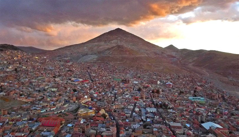 A great view of Cerro Rico taken this evening from our drone. Incredible!