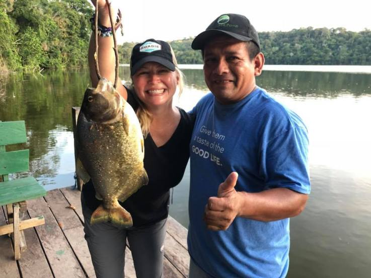 The proud new record holder, with our guide Ovidio. Muchas gracias amigo!