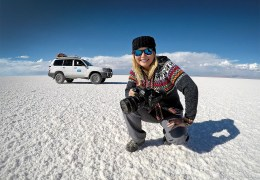 Howdy y'all! On the Salar de Uyuni.