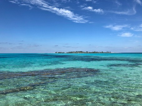 The crystal clear waters off Saunders Beach in Nassau.