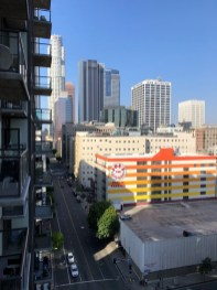The view from our AirBnB in downtown LA. And the weather was gorgeous (of course).