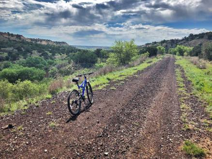 The trail is an easy ride (though long). And the scenery is absolutely breathtaking!