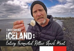 Okay. Here We Go. Eating Rotten Fermented Shark in Iceland! Who Wants Some?