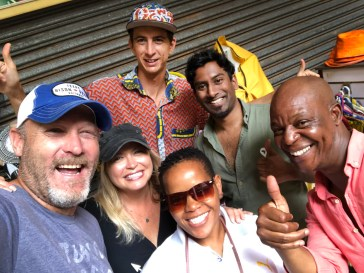 Our intrepid crew blazing a trail through Durban, along with Tinah,our guide through some of the local markets.