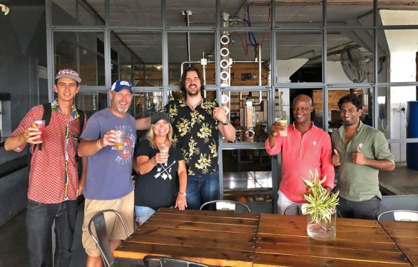 And part of our big Durban city tour? A stop at Distillery 031, home to some of the finest craft gins and spirits on the continent! Thanks Andrew for the conversation and refreshments! :)