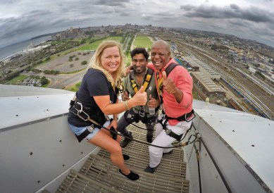 Love these guys! Our amazing guides through Durban, Justin and Thabo from Wild Routes Africa. So much fun!