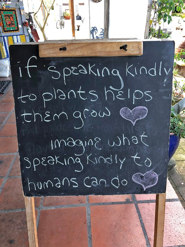 Saw this outside an ice cream shop near Cape Town. Relevant (and worth a try) everywhere!