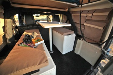 And a roomy customizable interior.