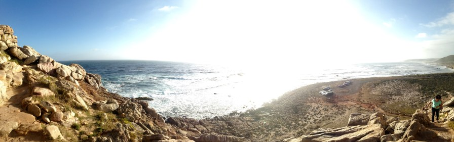 Across the ocean is South America. :D