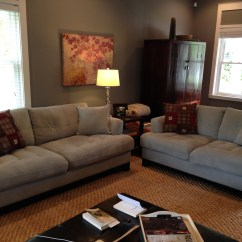 Living Room Couch And Loveseat Layout Decorating Ideas For With Grey Sofa Pearce Sectional Two Girls Blog Our Light Blue I Sure Did Love Them