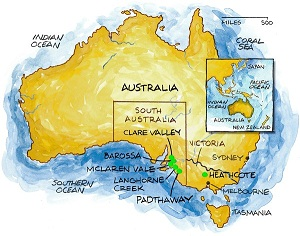 Australian wine regions illustrated map