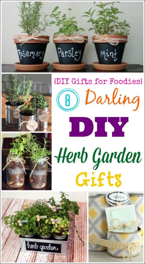8 Darling DIY Herb Garden Gifts DIY Gifts For Foodies Week Two