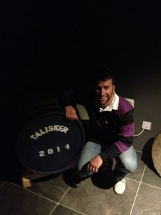 At the Talisker Scotch Whisky Distillery.