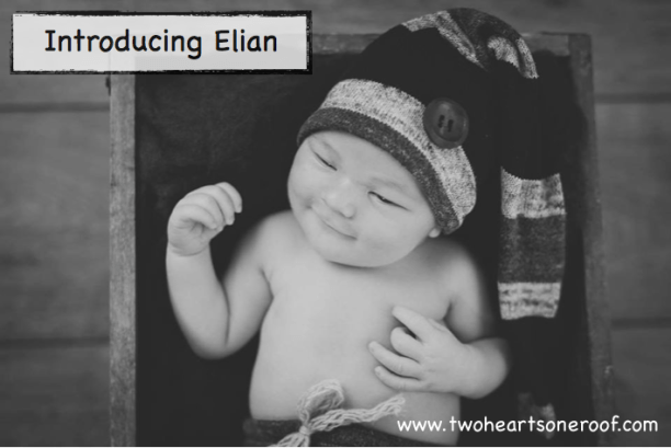 Newborn birth announcement - Introducing Elian
