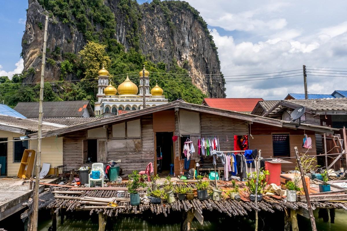 Et hus i den flydende muslimske by Koh Panyi