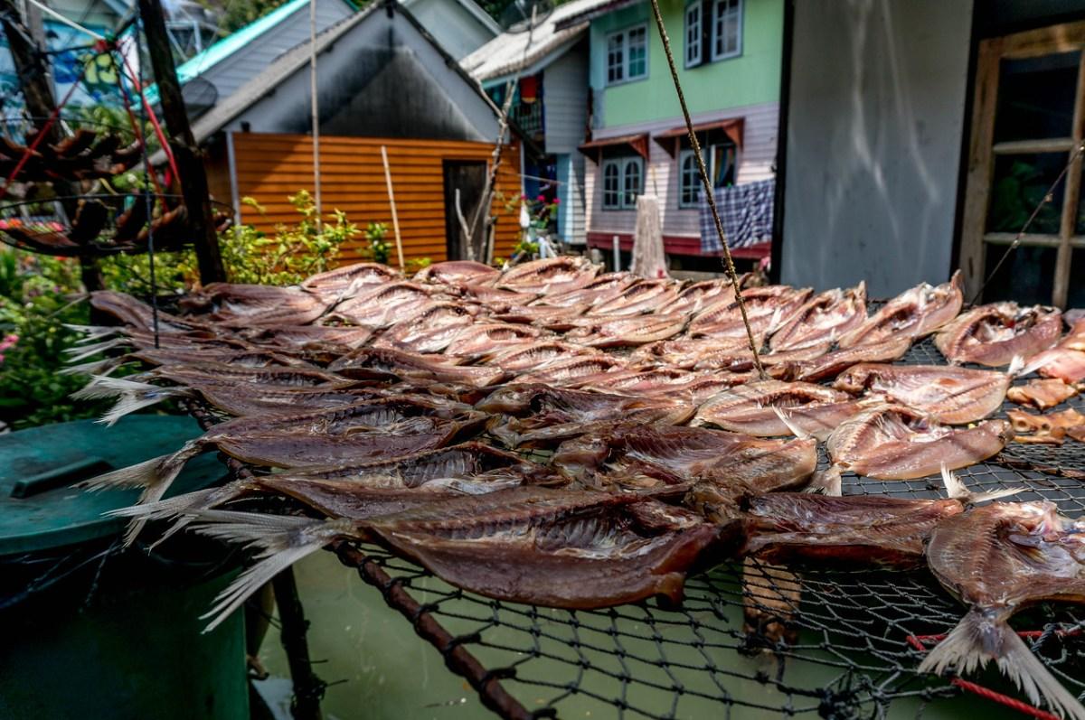Tørrede fisk Koh Panyi