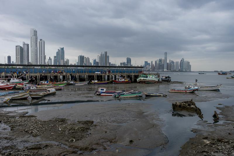 panama city skyline and fishmarket
