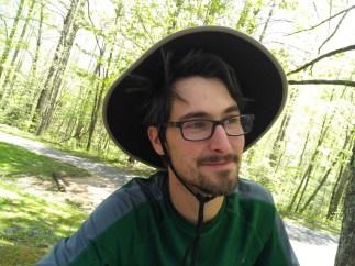 Bryan, his hat, his hair.