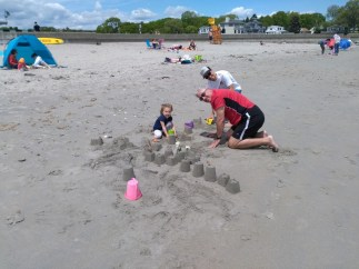 Sandcastles with Dad and Aubrey