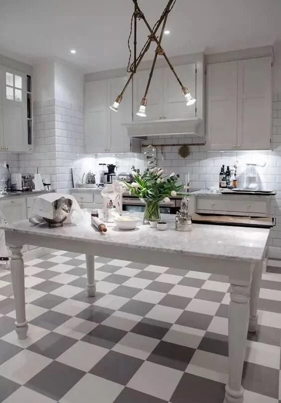 linoleum w kuchni