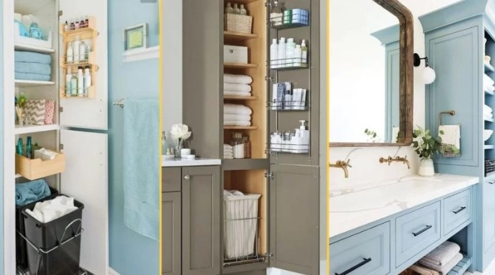 5 sprawdzonych sposobów na mała łazienkę! kosz na pranie