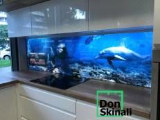 Szkło z motywem morskim