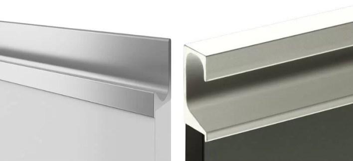 System bezuchwytowy listwa aluminiowa