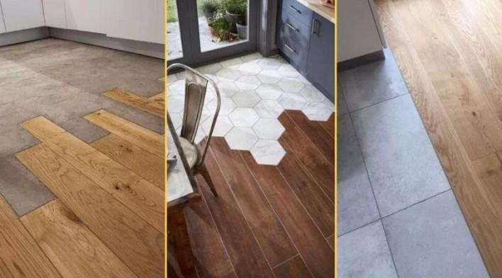 Łączenie podłogi z płytkami przykłady