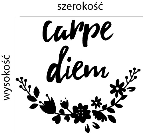 Naklejka dekoracyjna na ścianę Napis Carpe diem