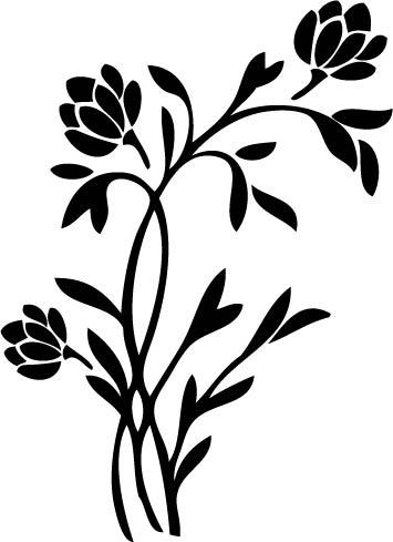 Naklejka dekoracyjna na ścianę Flora 120 :: NAKLEJKI
