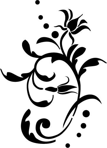 Naklejka dekoracyjna na ścianę Flora 270 :: NAKLEJKI