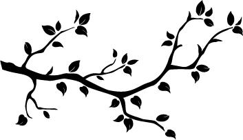 Naklejka dekoracyjna na ścianę Gałęzie 1 :: NAKLEJKI