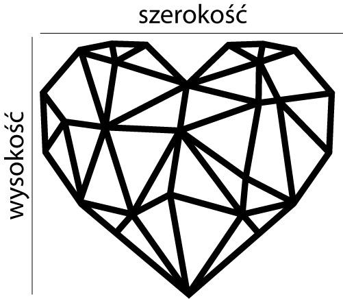 Naklejka dekoracyjna na ścianę Serce geometryczne