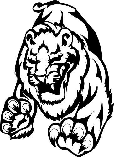 Naklejka dekoracyjna na ścianę Tygrys 8 :: NAKLEJKI