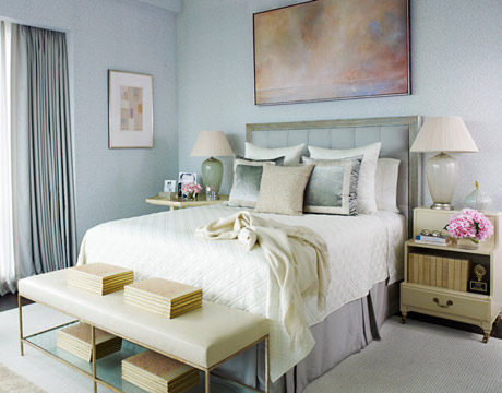 simple light blue walls master bedroom Easter Pastels – Blue. | Two Kellys