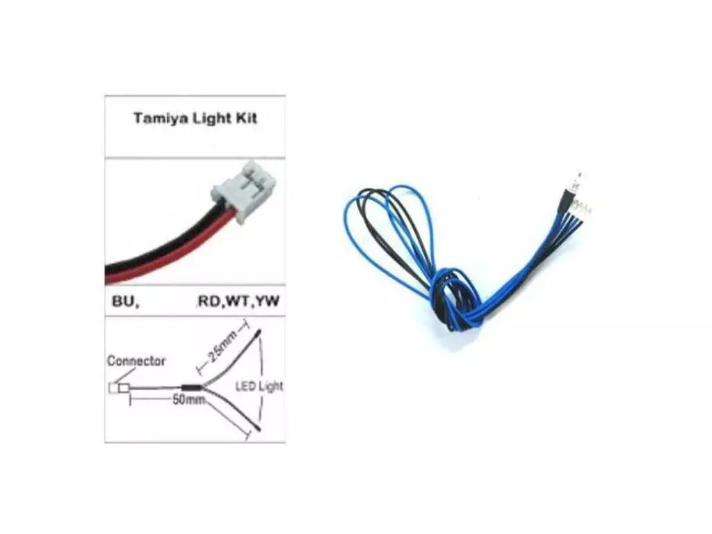 3mm BLUE LEDS + wiring for TAMIYA LED LIGHT UNIT TLU-01