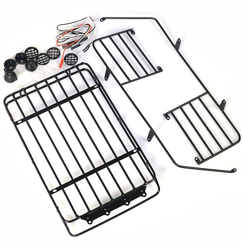 Metal Roll Cage / Luggage Tray with White LED Light For