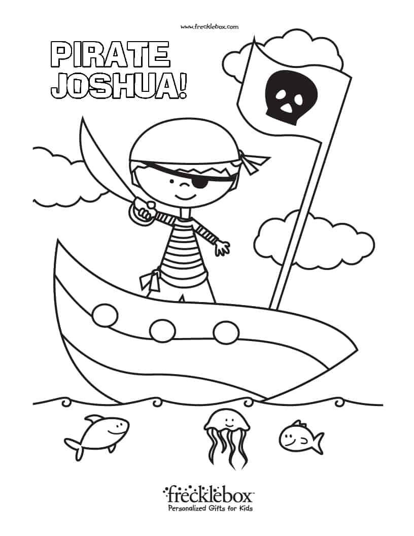 Free Personalized Coloring Pages With Your Child's Name