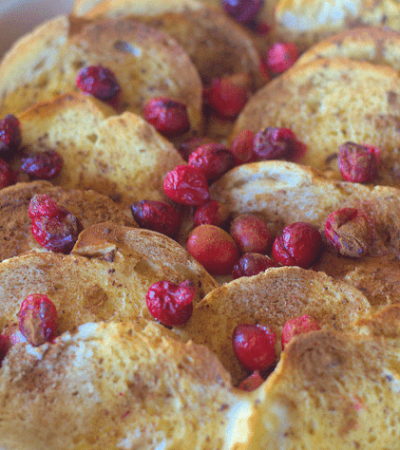Cinnamon Cranberry Overnight French Toast Bake Two Kids