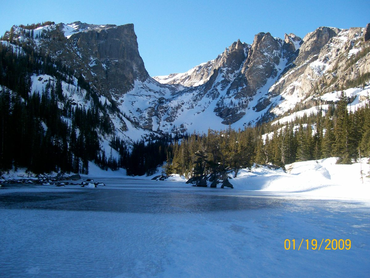 Snowshoeing Nymph Dream & Emerald Lakes Estes Park