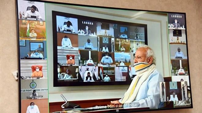 modi video conference on cm