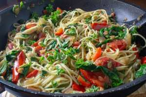 Fresh vegetable pasta