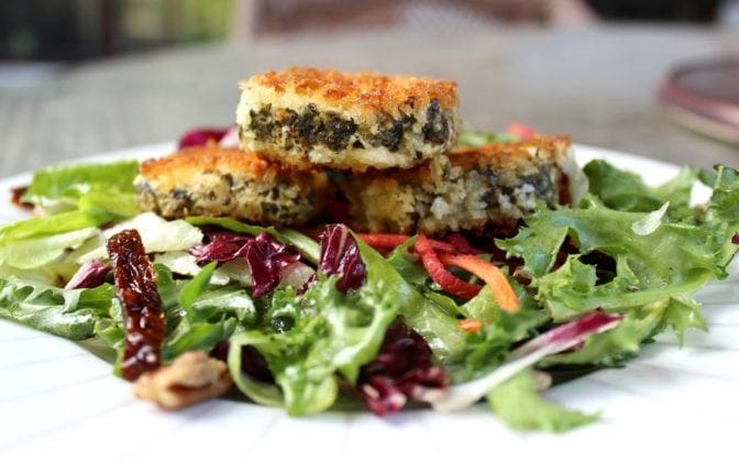 Crusted Goat Cheese Salad
