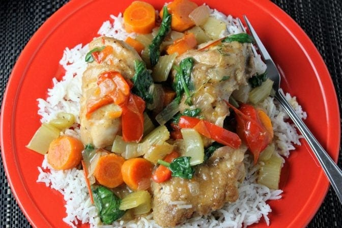 One Skillet Chicken and Vegetables